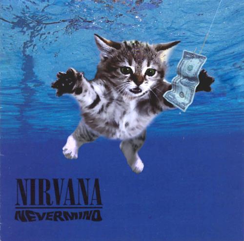 Nirvana Nevermind mit Katze