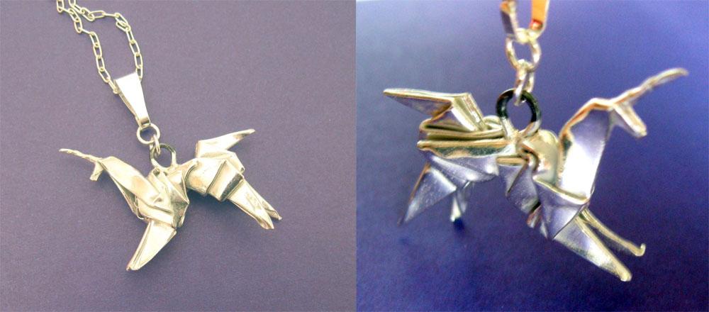 silberne blade runner origami einhorn halskette. Black Bedroom Furniture Sets. Home Design Ideas