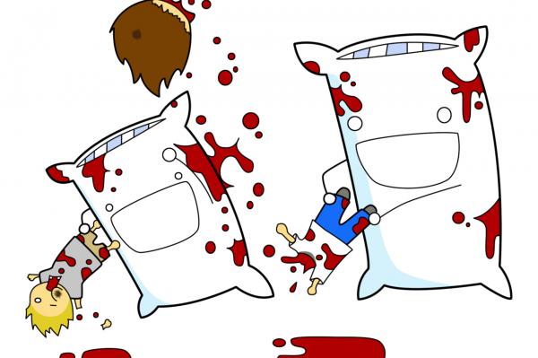 Blutige Kissenschlacht!