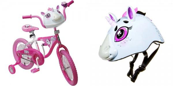 Einhorn Helm und Fahrrad