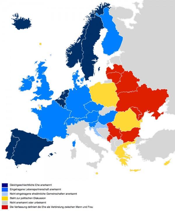 Gleichgeschlechtliche Ehe in Europa