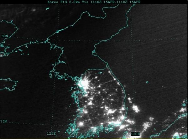 Nordkorea im Dunkeln