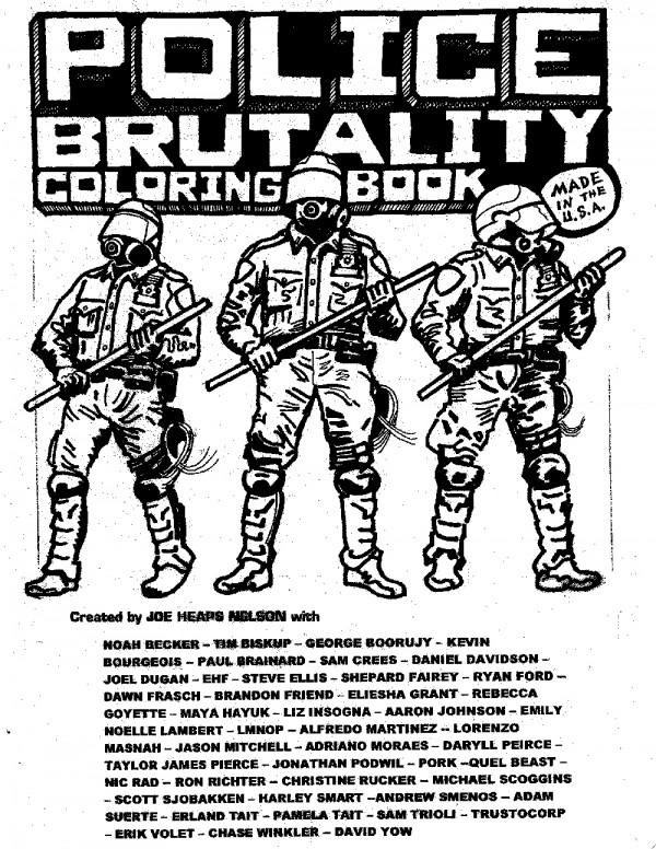 Polizeibrutalität als Malbuch