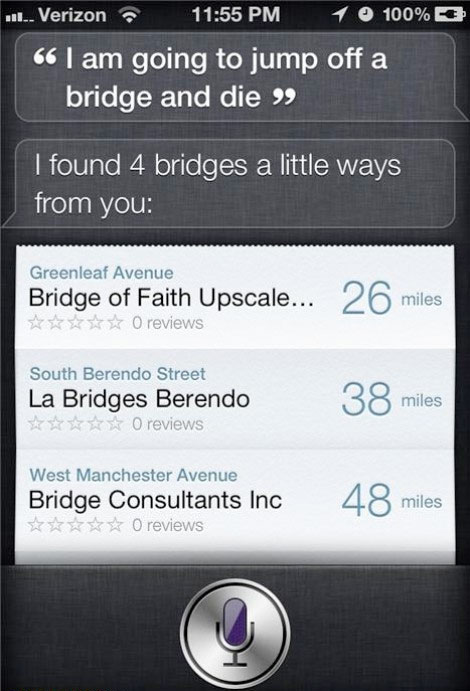 Suicide Siri