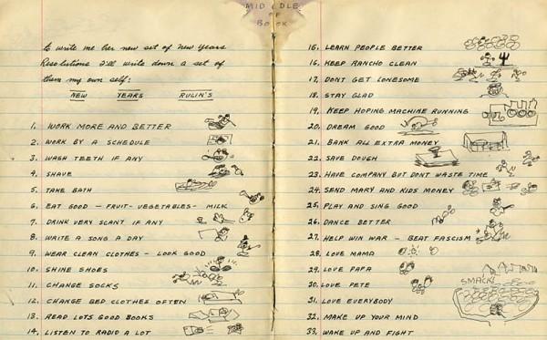 Woodie Guthries gute Vorsätze