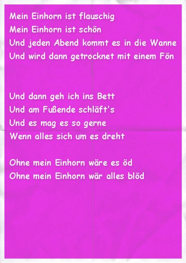 Ein Einhorn-Gedicht
