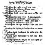 Mit den Augen flirten