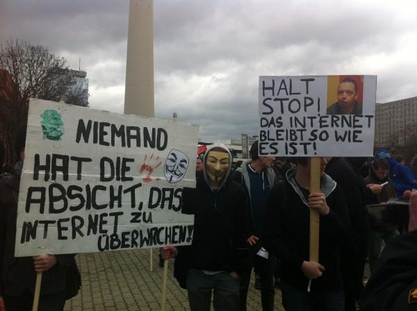 ACTA Kundgebung am 25.02.2012 in Berlin