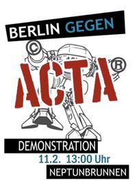 Berlin gegen ACTA