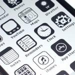 iPhone Benutzeroberfläche im Retrostyle
