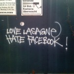 Love Lasagne Hate Facebook!