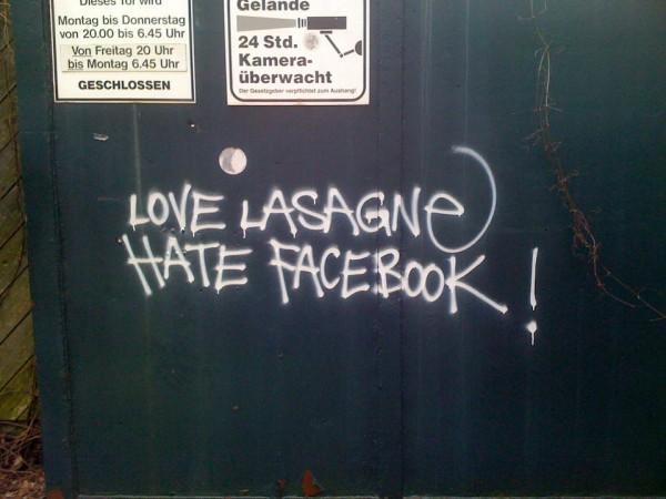 Love Lasagne Hate Facebook!