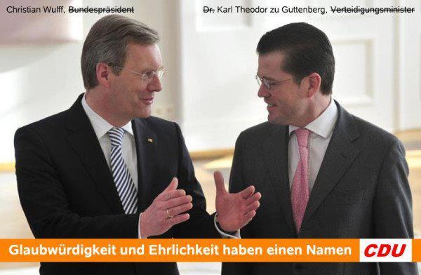 Wulff, Guttenberg - CDU/CSU