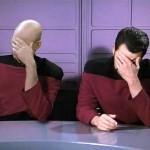 Double Facepalm von Picard & Riker