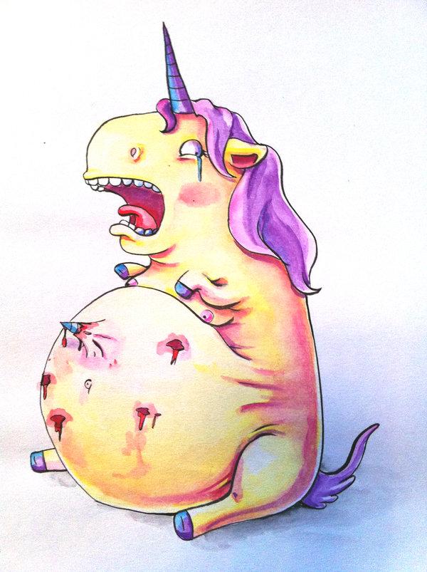 Schwangeres Einhorn