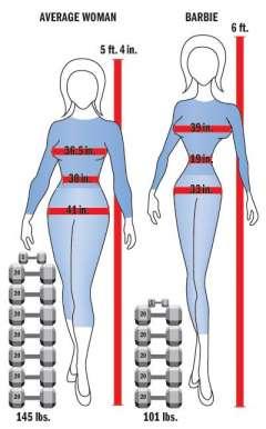 Körpermaße von Barbie