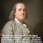 Benjamin Franklin über Patente