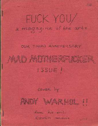 Fuck You Magazine Of The Arts