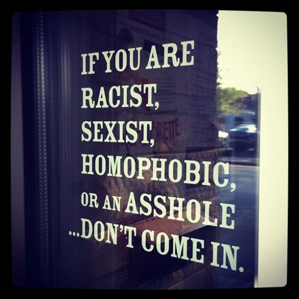 Racist Sexist Homophobic Asshole