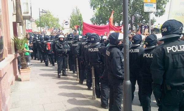 Blockupy in FFM, Foto von whywefight.net