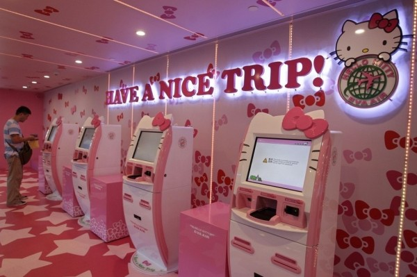 Hello Kitty Airline Check-In Counter