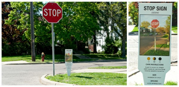 Urban Plant Tags - Stop Sign