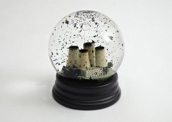 Black Snow Globes