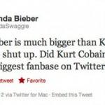 Justin Bieber ist größer als Kurt Cobain