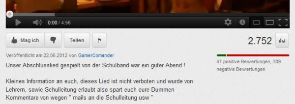 "Kommentar des Uploaders ""GameCommander"""