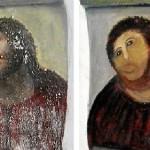 Restauriertes Jesus Fresko