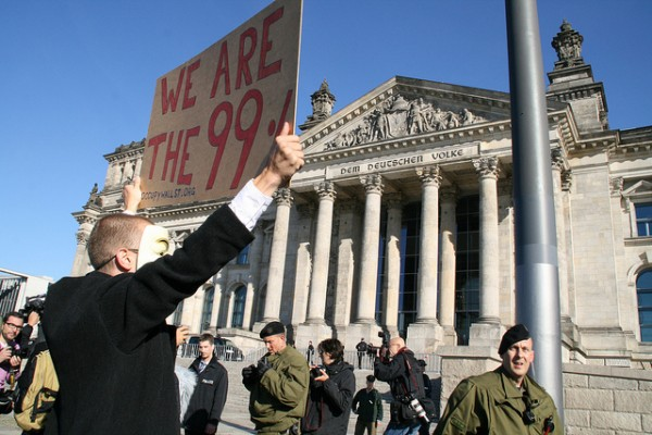Oktober 2011 - Occupy Demonstranten in Berlin