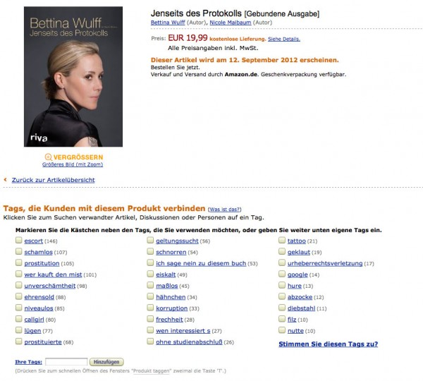 Bettina Wulff - Jenseits des Protokolls - Screenshot vom 11.09. 12:20