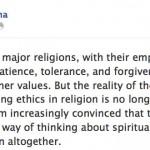 Der Dalai Lama über Religionen