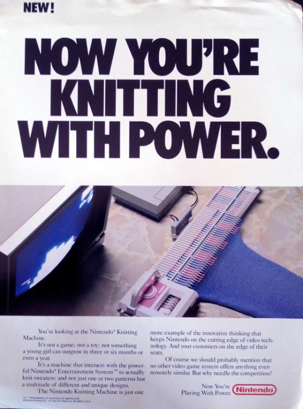 Nintendo Strickmaschine für das NES