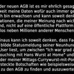 AGB Widerspruch Facebook