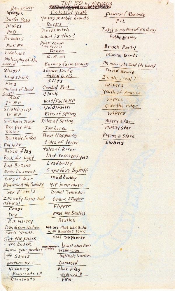 Top 50 Alben von Kurt Cobain