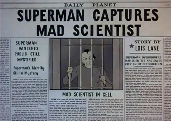 Superman Captures Mad Scientist