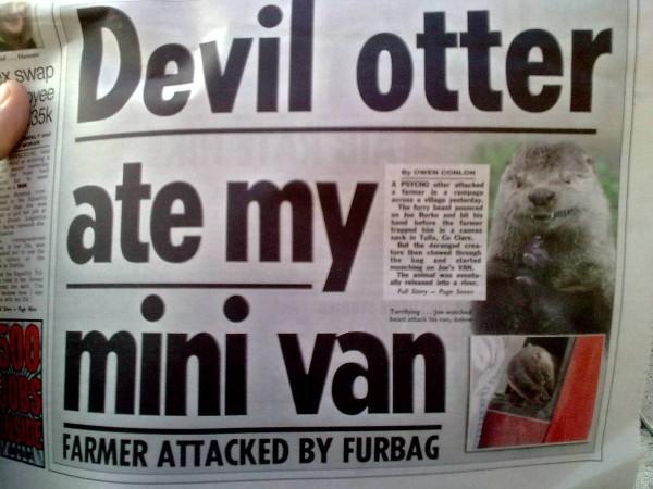 Devil otter ate my mini van
