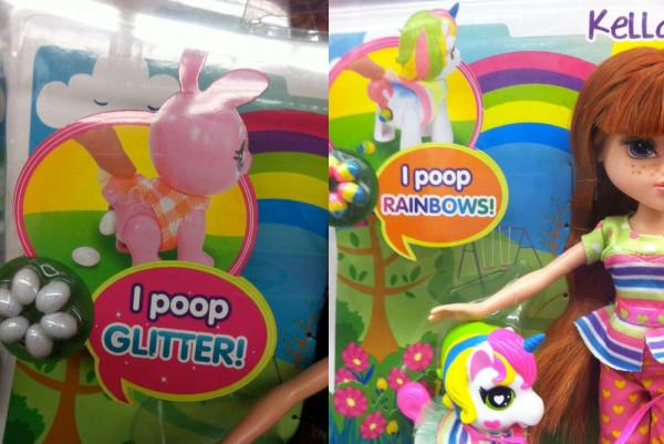 I poop Glitter Rainbows