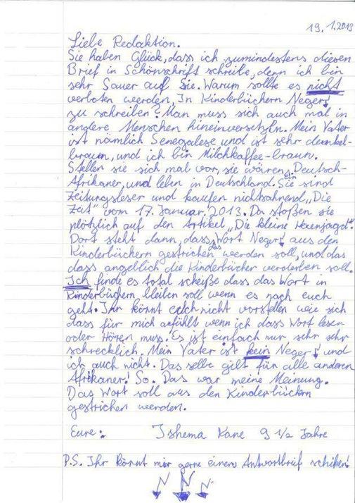 Offener Brief an die ZEIT von Ishema