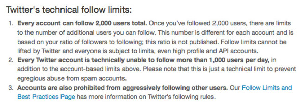 Twitter Follow Limit