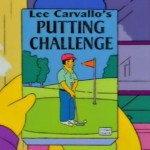 Lee Carvello's Putting Challenge - Simpsons
