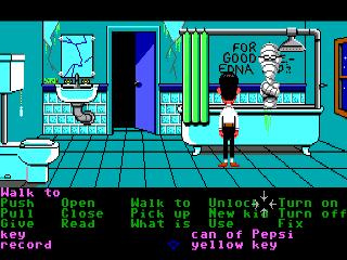 Badezimmer in Maniac Mansion (1987)