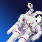 Weinen im Weltraum