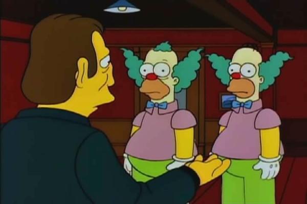 Krusty (l.) und Homer (r.)