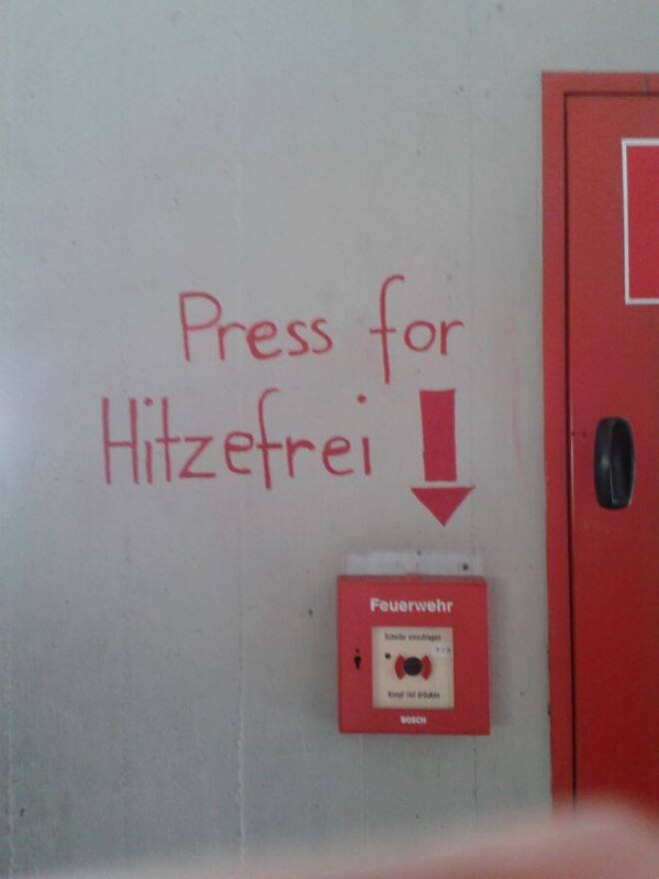 Press for Hitzefrei
