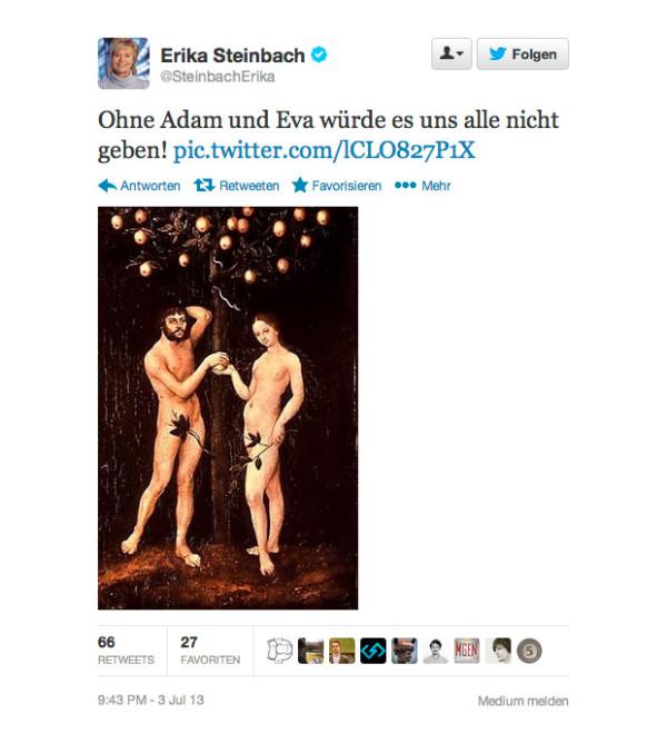 Erika Steinbach über Adam & Eva