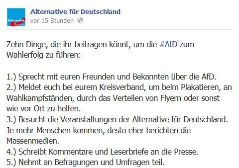 AfD-Aufruf