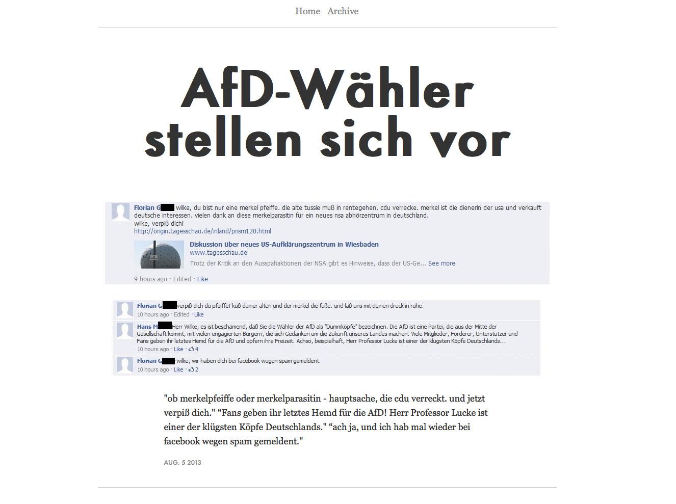 AfD-Wähler stellen sich vor