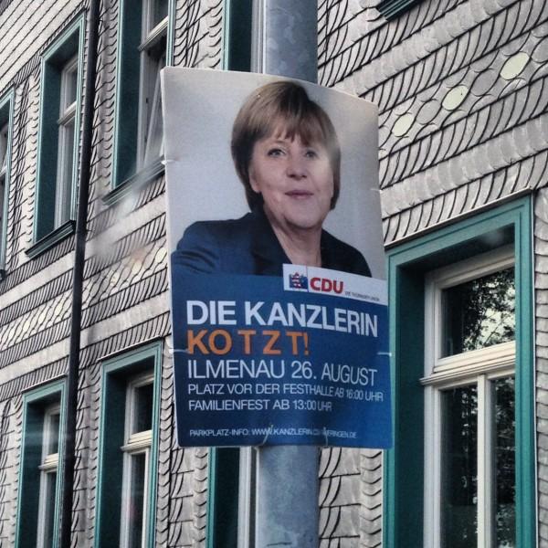 Merkel kotzt
